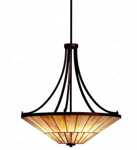 Morton Arts & Crafts Style 4-light Inverted Chandelier Light