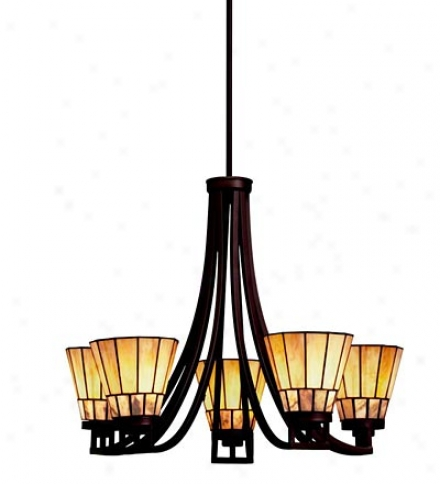 Morton Arts & Crafts Style Chandelier