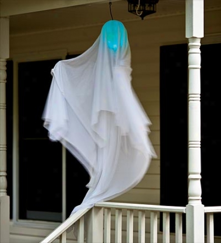 Motion-activated, Light-up Halloween Twirling Ghost