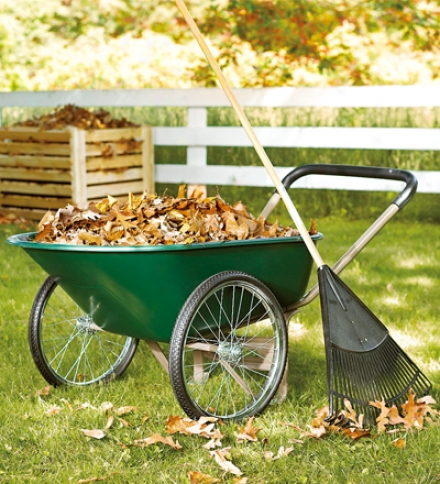 Multifuunctional Garden Cart/ Wheelbarrow With Steel Skeleton Construction And Cushioned Handle
