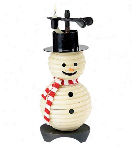 Natural-beeswax Snowman Candle Refill