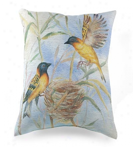 Nesting Birds Photo-printed Put off Pillow