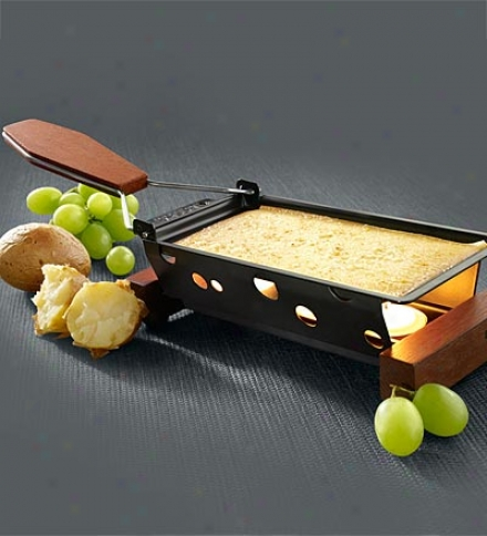 Nonstick Cheese Partyclette Portable Cheesse Melter With Tealights