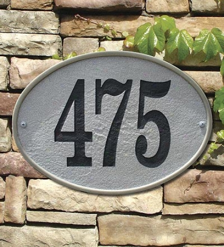 Oakffield Oval Stone Number Plaque Oval Address