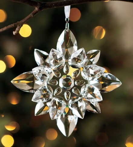 Optic Glass Snowflake Ornament