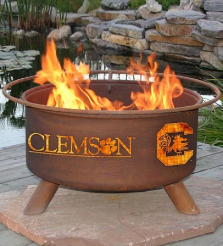 Outdoor House Divided 2-team Colleglate Fire Pit With Team Logo Cutouts