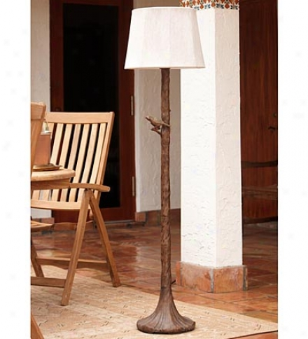 Outdoor Tree Floor Lamp With Weather-resistant Shade