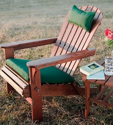 Outdoor Weather Resistant Adirondack Chair Seat Cushion
