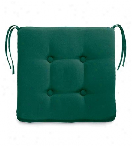 Exterior Weather Resistant Tufted Chair Cushion With Tis