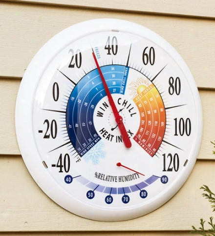 Outdoor Weahterproof Wind Chill/heat Index Thermometer