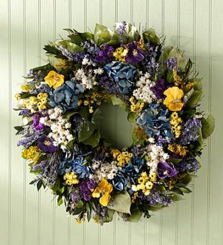 Pansy Garden Wreath