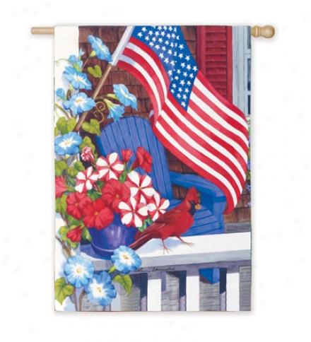 Patrioitc Perch House Flag