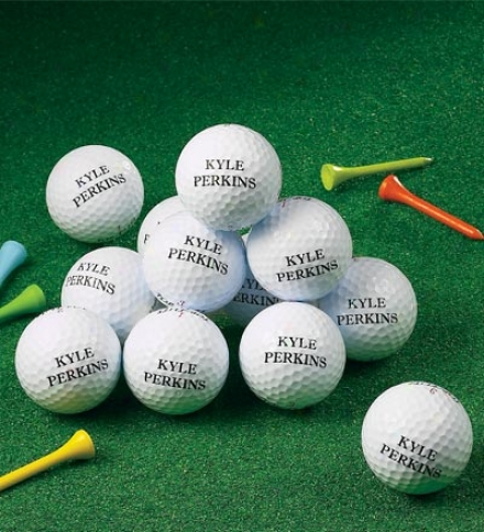 Personalized Golf Balls, Set Of 12
