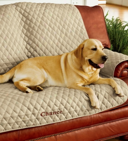 Personalized Pet Loveseat Cover