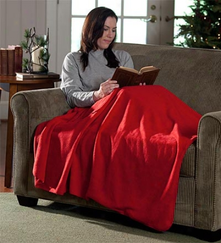 Persojalized Polyester Fleece Cuddle Blanket With Integrated Foot Pocket