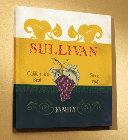 Personalized Vintage Wine Label Wall Art