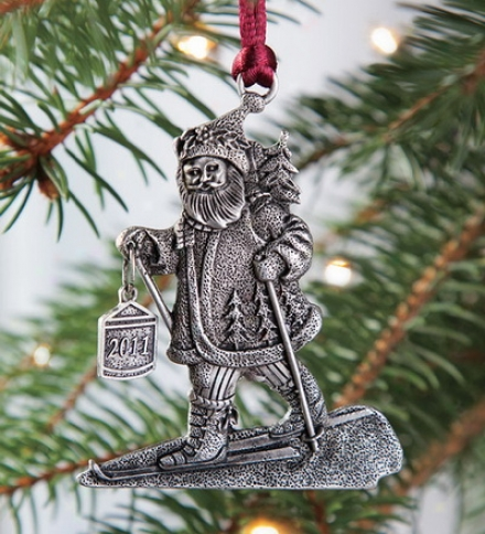 Pewter Santa 2011 Ornament