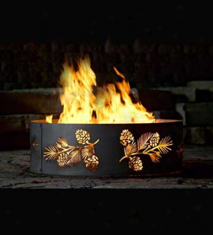 Pine Bough Fire Ring