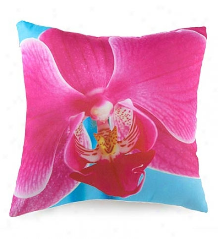 Pink Orchid Photi-printed Throw Pillow