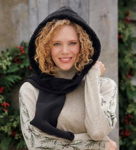 Polartec® Wind-resistant, Water-repellent Fleece Hood Wrap