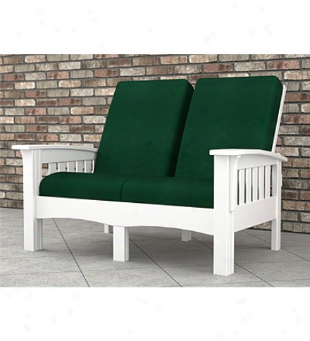 "Poly-wood??? Mission-style Loveseat43"" X 57-1/2""l X 40"""