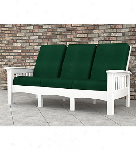 "Poly-wood??? Mission-style Sofa43"" X 82""l X 40"""
