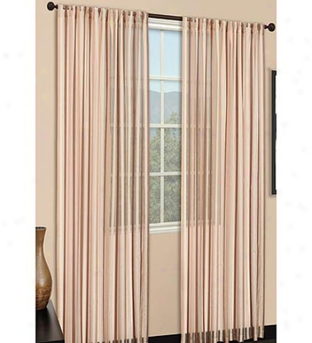 Polyester Sand And Strip Piccadilly Curtain Pairs