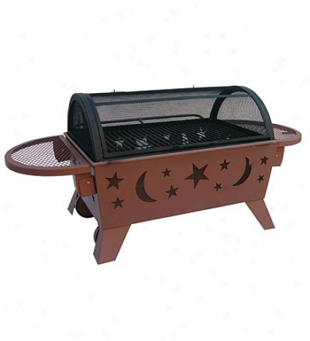 Portable Outdoor Northern Lights Stars & Moons Fire Pit