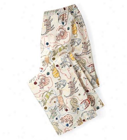 Portuguese Cotton Flannel Cat Lounge Pants