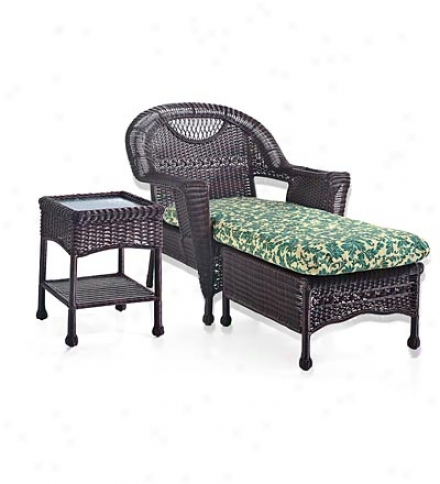 Prospect Eminence Outdoor Resin Wicker Chaise Lounge