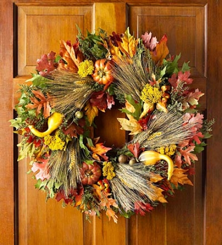 Pumpkin Field Wreath