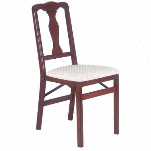 Queen Anne Folding Chair, Set Of 2