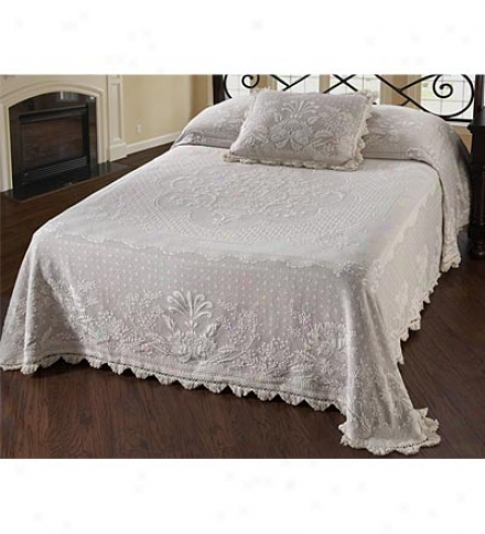 Queen Usa-made Abigail Adams 100% Cotton Matelasse Textured Bedspread