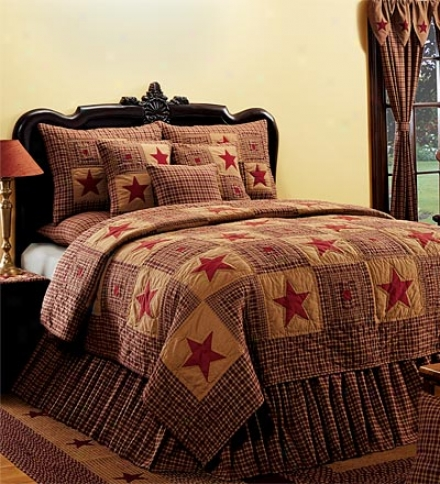 Queen Vintage Star Bedskirt
