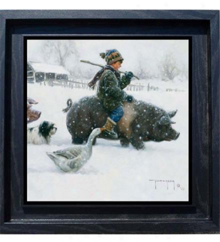 """piggyback"" Framed Giclee Print By Robert Duncan"