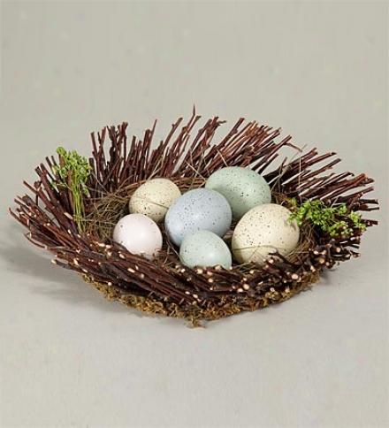 Realistic Bird Nest Décor