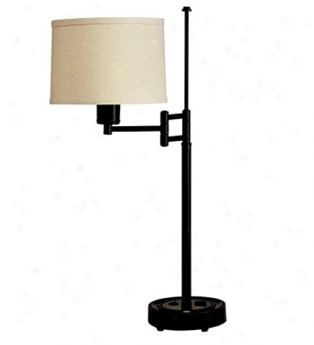 Reid Adjustable Swing-arm Desk Lamp With Linen Shade