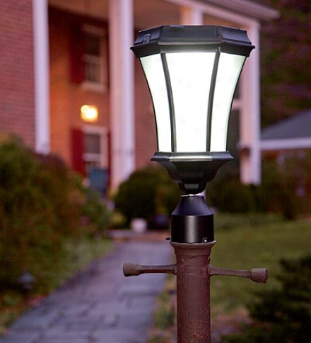 Replacement Solar Post Lamp Heda With Eight Leds And Dusk-dawn Sensor