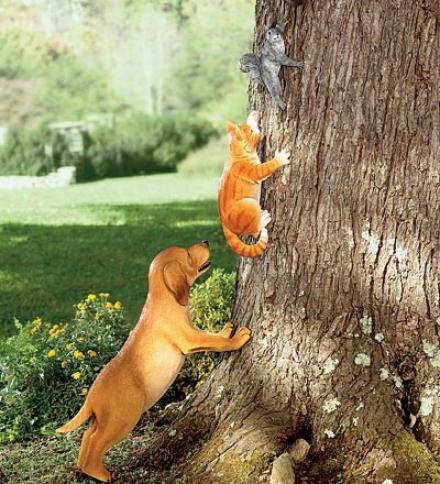 Resin Dog Statue