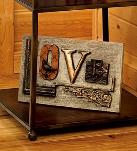 Resin Love Plaque