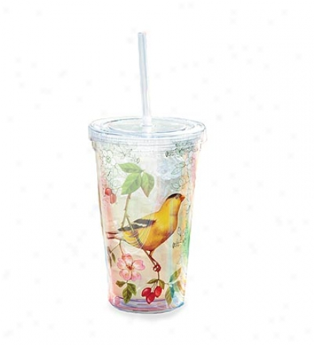 Reusable Acrylic Insulated Tumbler Wigh Lid And Straw