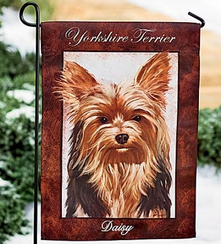Richly Colored Fase- And Tear-resistant Dog Breed Garden Flag