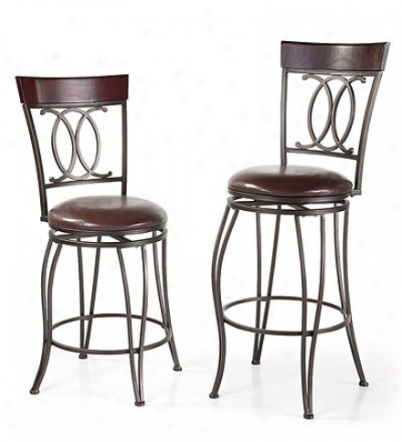 Richmond High-back Bar Height Swivel Stool