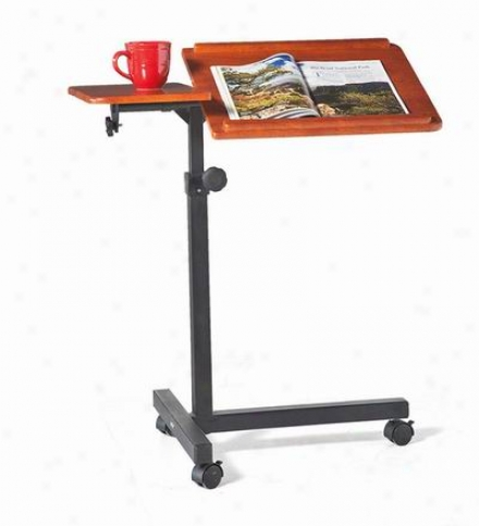 Rolling, Adjustable Wood Laptop Table Desk