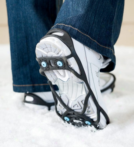 Rubber Shoe Grips With Tungsten Carbide Snow Spikes