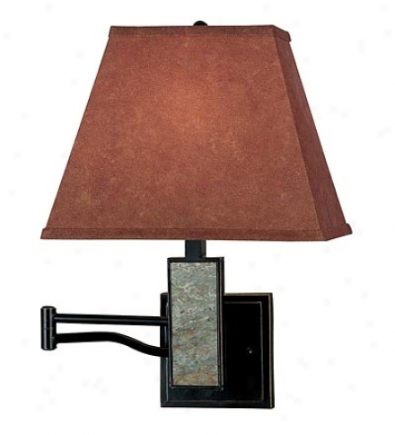 Rustic Space-saving Swing-arm Wall-mounted Reading Lamp
