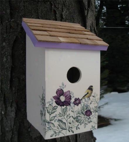 Saltbox Birdhouse With Cedar Shake Roof