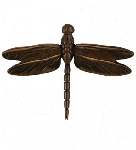 Sand-cast Dragonfly Door Knocker By Michael Healy