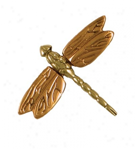 Sand-cast Dragonfly Doorbell Ringer Along Michael Healy