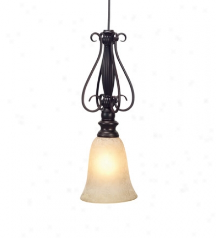 Scaco Glass Bell Shade For Scroll Pendant Light
